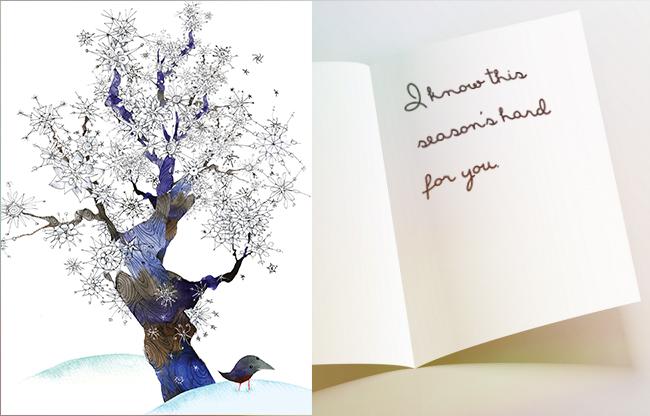 open-card-winter-tree