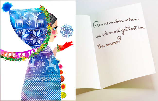 open-card-winter-woman