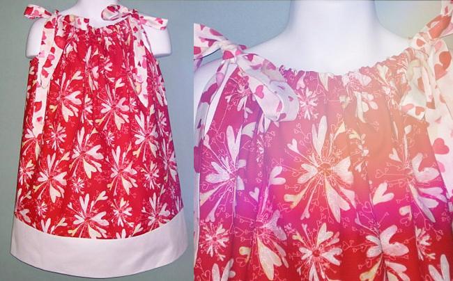 red-dress-masha-dyans-fabric